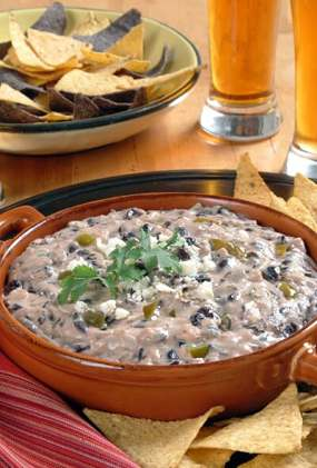 california cheese black bean dip1